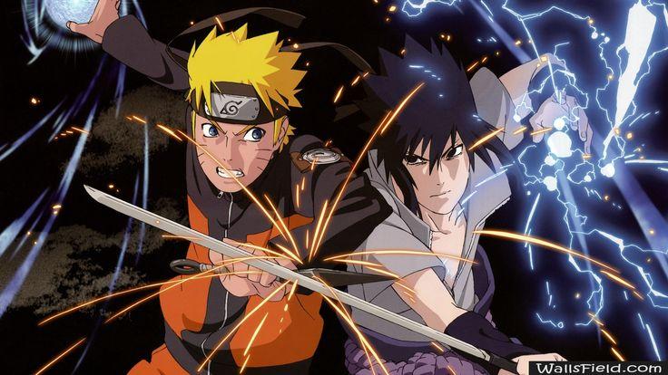 Naruto vs Sasuke - http://wallsfield.com/naruto-vs-sasuke-hd-wallpapers/