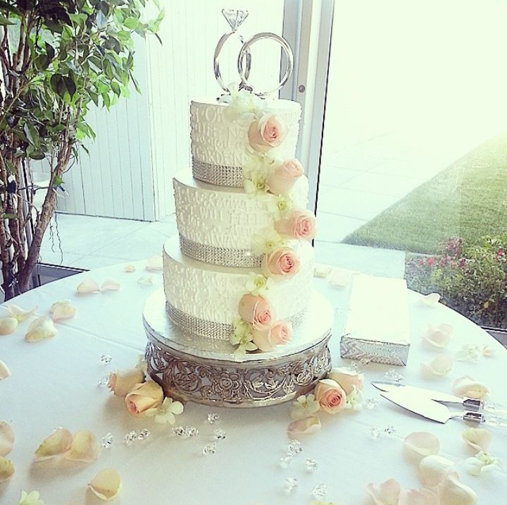 wedding cake design the lyrics to our cake cutting song were written on the