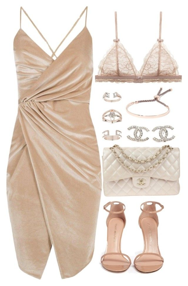 """""""Untitled #2953"""" by theeuropeancloset ❤ liked on Polyvore featuring Boohoo, Stuart Weitzman, Chanel, Topshop and Monica Vinader"""