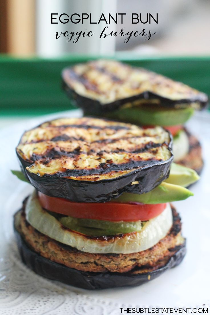 Eggplant Bun Burgers | TheSubtleStatement.com | #vegan #glutenfree #21dayfix