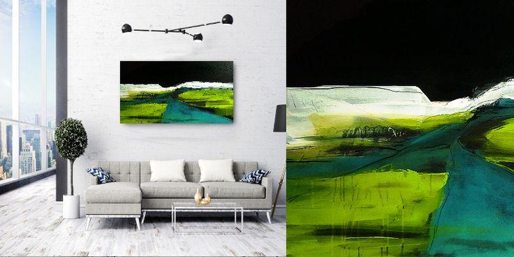 bilder malen lassen grün abstrakt