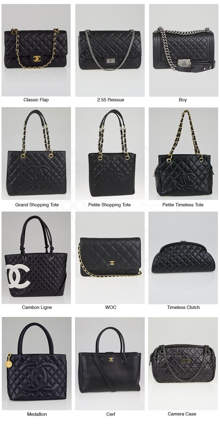 Chanel Classic Reference Chart