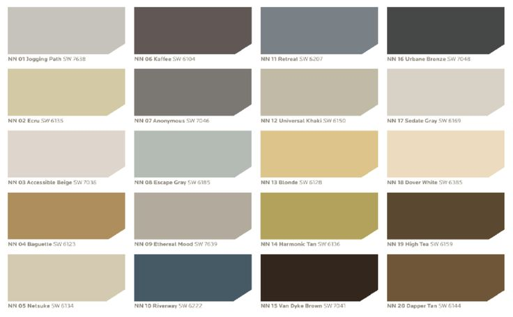 Sherwin Williams Neutral Nuance color palette. - Every ... - photo#27