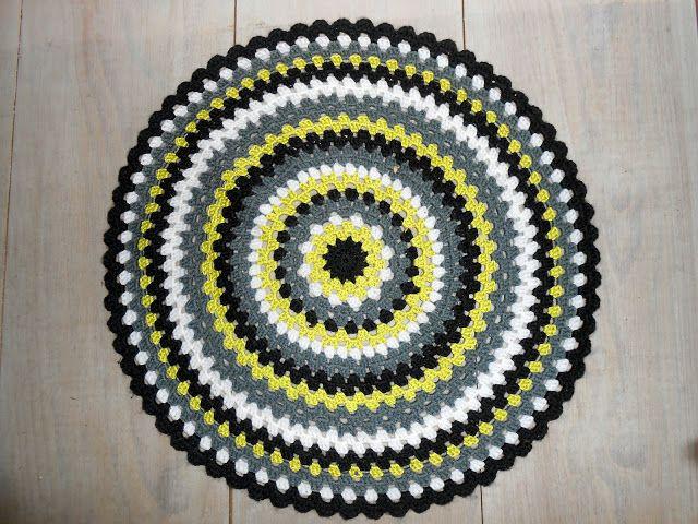 Een gehaakte mat