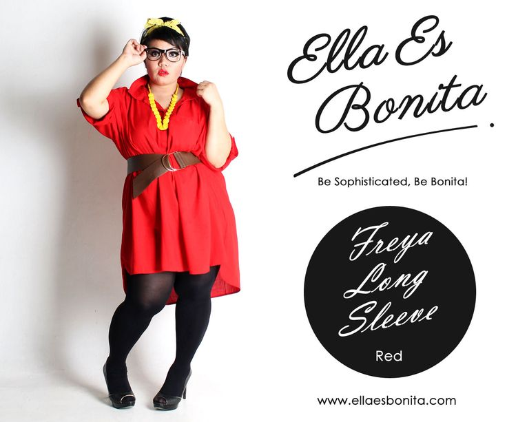 Freya Long Sleeve - Dress which specially designed for sophisticated curvy women originally made by Indonesian Designer & Local Brand: Ella Es Bonita.Available at www.ellaesbonita.com