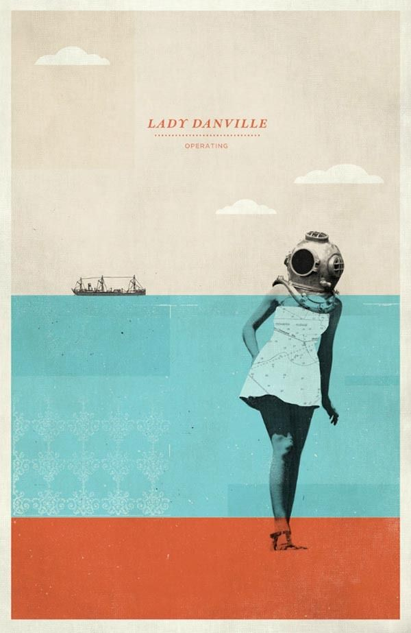 Dang! This one just makes me happy Lady Danville Gig Poster by Concepcion Studios