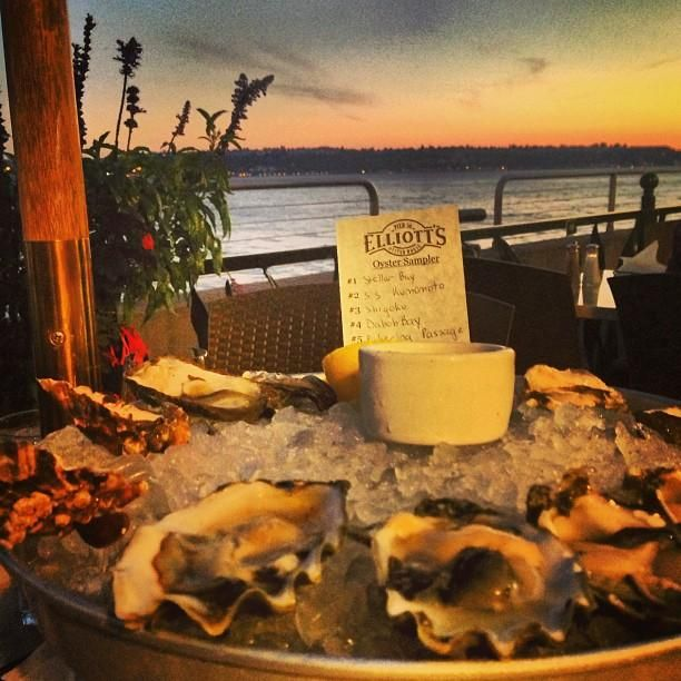 You must try the oysters at Elliott's Oyster House in Seattle. Photo courtesy of stellagram1 on Instagram.