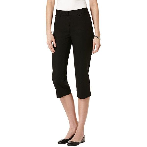 Rafaella Petites Petite Solid Double Weave Curvy Capri Pants ($41 ...