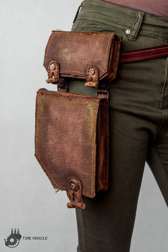 Distressed Leather Bag Fallout Military