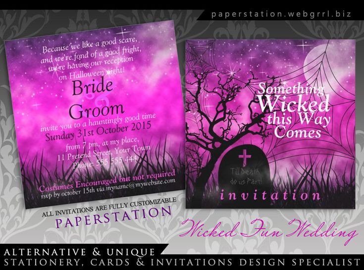 Halloween Wedding Invitation: 76 Best Invitations & Cards Images On Pinterest