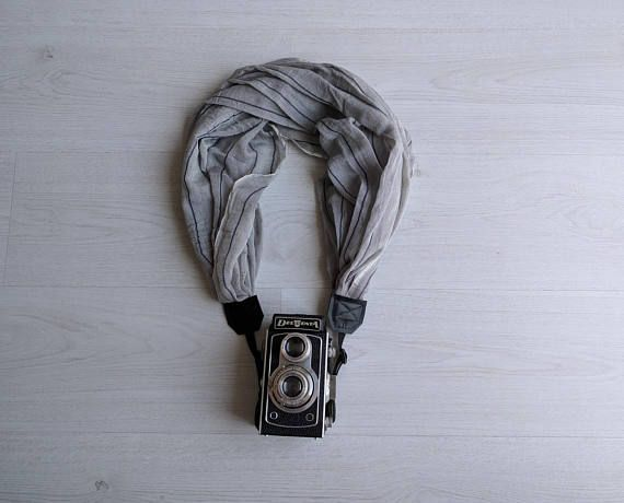 Camera strap scarf Fabric camera strap Scarf camera strap DSRL camera strap Photography prop Canon camera accessories Nikon camera strap