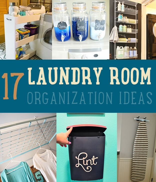17 Laundry Room Organization Ideas by DIY Ready at http://diyready.com/laundry-room-organization-ideas/