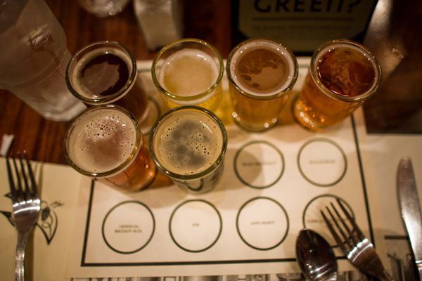 A good, old fashioned beer-tasting at Iron Hill. (Photo: J. Smith for GPTMC)
