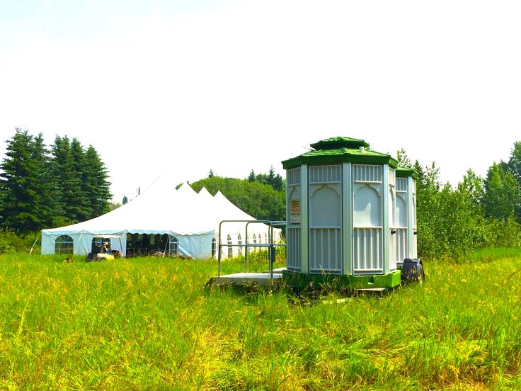 CabanaCan set up Wedding July 2014 ... eventually after we got unstuck from the sand dune property this was on in west Edmonton