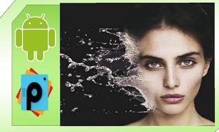Cara edit foto water splash effect picsart android