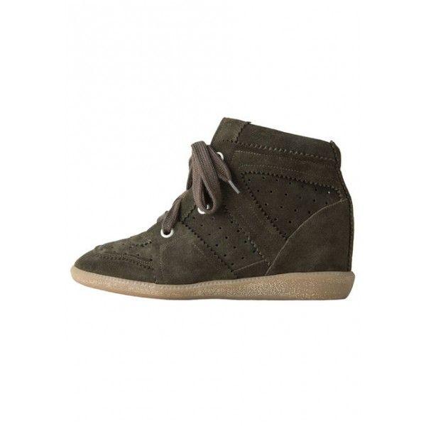 Isabel Marant Bobby Low Top Sneaker Khaki