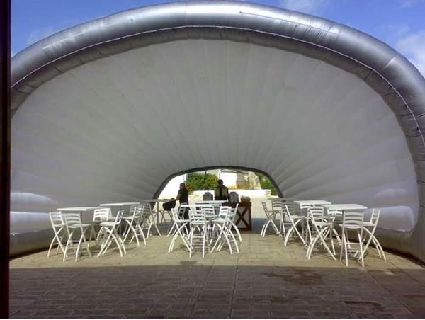 Do you want some sun shade for your #hospitality seating area with a cool breeze flowing through? Half #Turtle is what you need.  #Inflatable #Temporary #Structure #Events http://www.brandinteractivation.com/