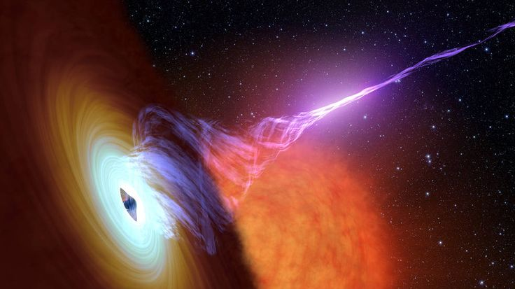 Artist's concept shows a black hole with an accretion disk