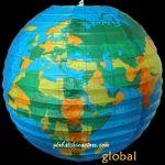 12 Globe patterned paper lantern Kup papierowe lampiony, latarnie nylon [12GB] - $0.80 : Jianoupaperlanterns.com