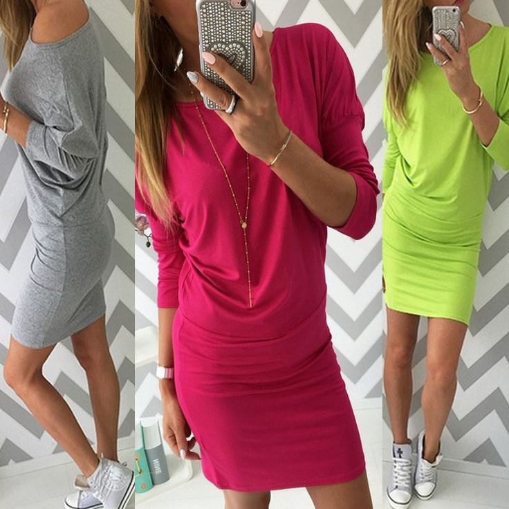 UK Womens Bodycon Pencil Cocktail Evening Ladies Summer Party Dress Size 6 - 14 #Unbranded #StretchBodycon #Casual