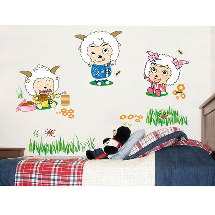 Have you ever watch 《Pleasant Goat and Big Big Wolf》?  If you like this cartoon, just put these cute #WallStickers on your bedroom wall.