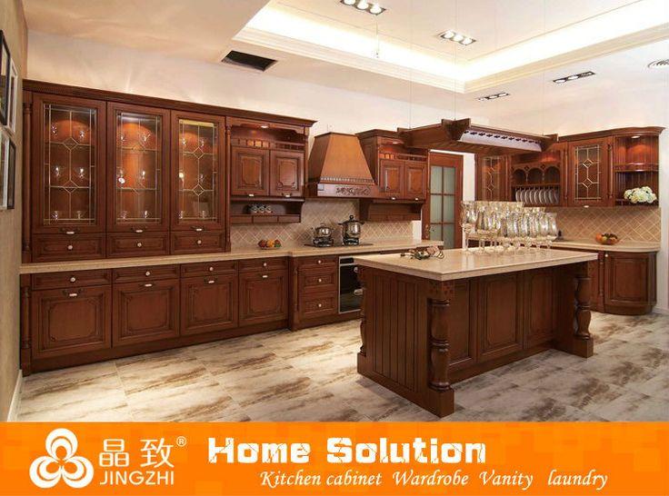 2013 Solid wood kitchen cabinet design customized kitchen cabinet $200~$500