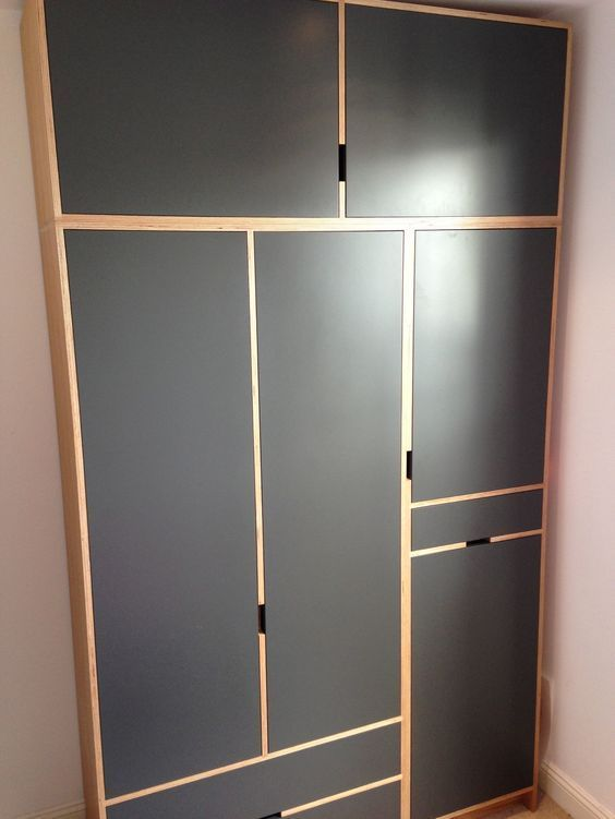 Image result for charcoal kitchens with plywood trims
