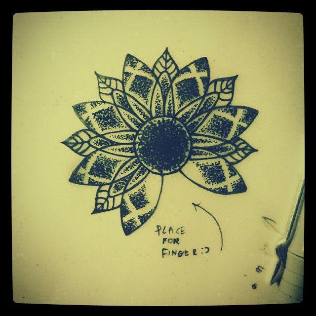 Dotwork mandalafor my hand cover tattoo :)
