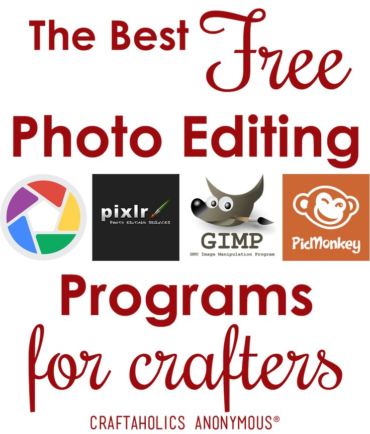 "Crafters want to know - what is the best photo editing program for crafting! Vikki asked, ""Which free or inexpensive photo editing programs do any of you recommend?"" Here is what our crafters on our Facebook Page recommended! Answers and suggestion"