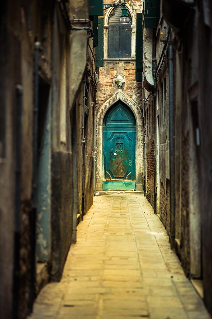 Blue Door in Venice, Italy