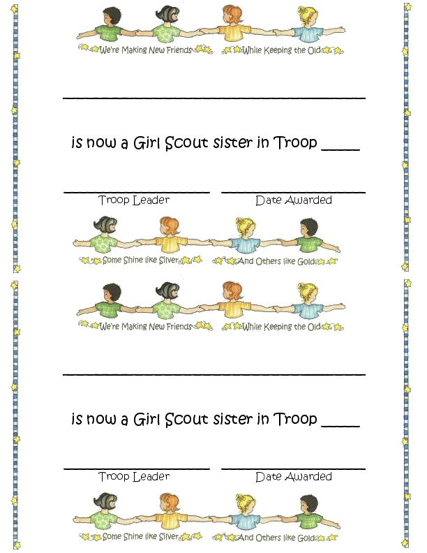 scout certificates template - 1000 images about girl scout printables on pinterest