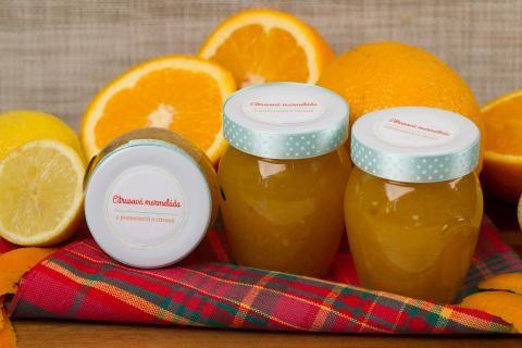 Citrusová marmeláda z pomerančů a citrónů