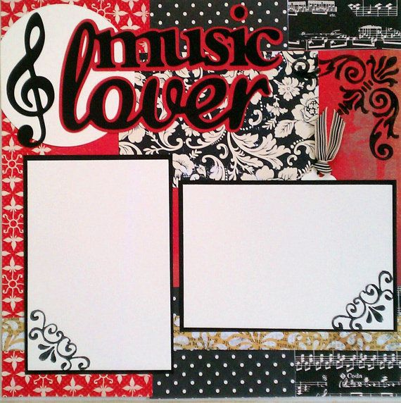 Music Lover 12x12 premade scrapbook layout page by ohioscrapper, $15.00