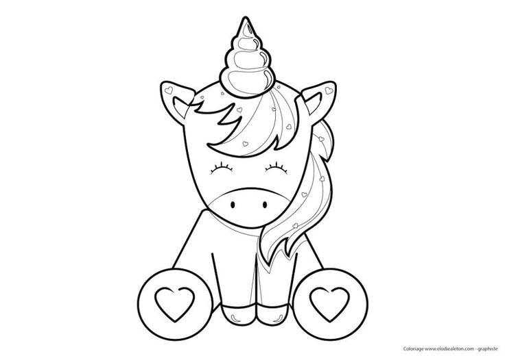 dessin licorne  recherche google  einhorn zum ausmalen