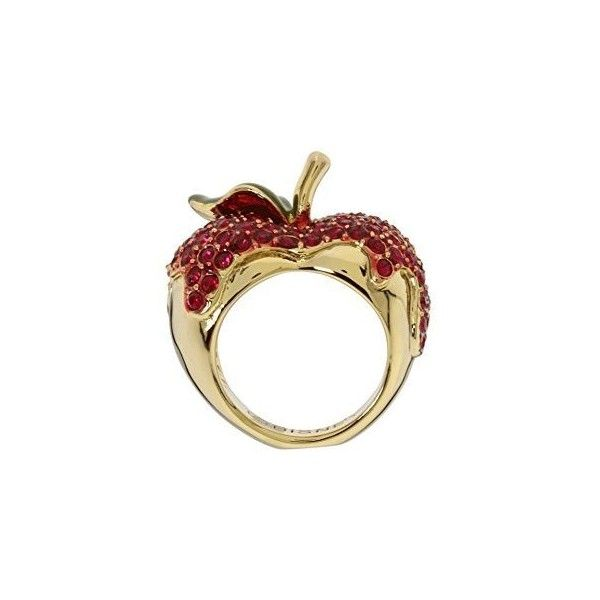 Amazon.com: Disney Couture Snow White Poison Red Apple Ring: Jewelry ($85) ❤ liked on Polyvore featuring jewelry, rings, disney couture ring, disney couture, red jewellery, red ring and disney couture jewelry
