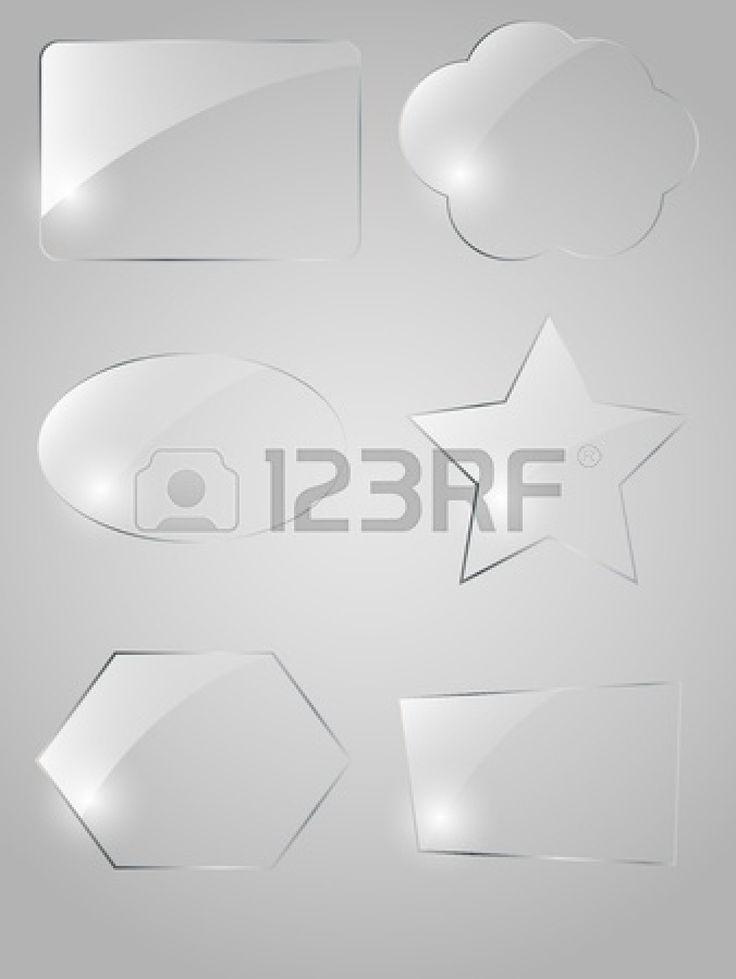 Glass framework set Stock Vector - 11515338