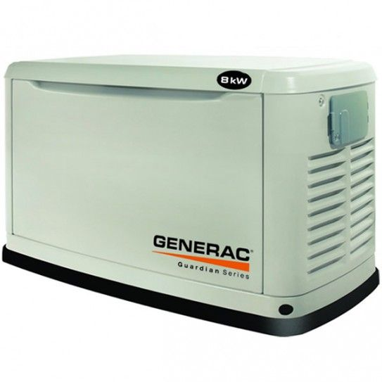 New Generac HSG8KVA Evolution 2016 model Gas Standby Generator. Reliable and clean power is guaranteed with this Generac 8kVA Gas Generator, making it the ideal backup solution for your home or small business.