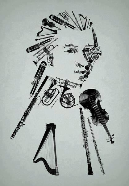 Self portrait using varieties of instruments.