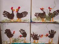 Knutselen: kippen van handafdruk