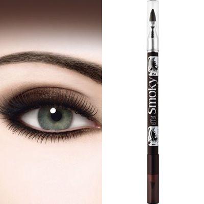 ΤοBourjois Eyeliner To Smudge Pencil Effect Smoky είναι ένα μολύβι ματιών διπλής όψης, ιδανικό για να κάνετε smokey eyes μακιγιάζ, με 2 απλά βήματα. Η μαλακή μύτη του μολυβιού είναι κατάλληλη για να σχηματίσετε με ακρίβεια και ευκολία τη λεπτή γραμμή, στη βάση του βλεφάρου. Στην άλλη π