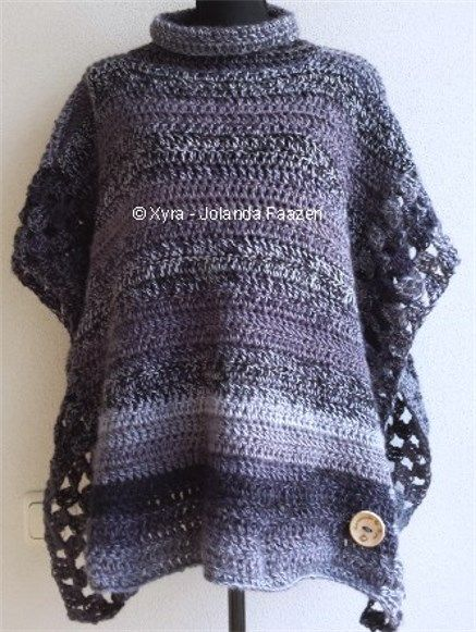95 Best 1 Häkelponcho Images On Pinterest Knit Crochet Crochet