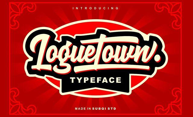 Loguetown Typeface - Free Demo