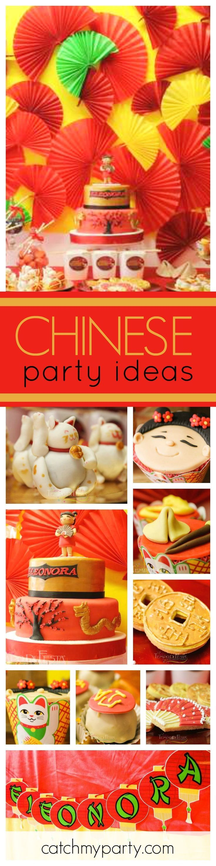 This Chinese Birthday Party will take you all the way to China. The desserts are so beautifully decorated and the Birthday Cake is awesome!