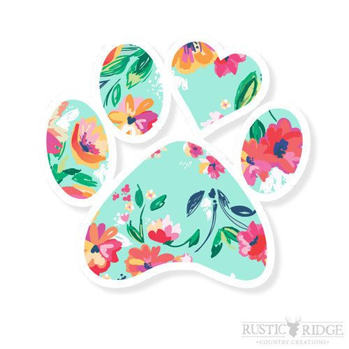 Paw Print Decal dog lover gift Paw Print Car by RRCountryCreations