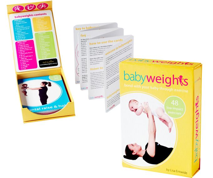 babyweights - A brilliant gift idea for new mum's - providing the perfect way to look after her own well-being and have some fun with her baby too.