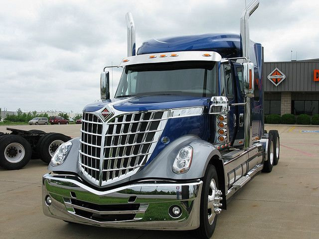 International LoneStar semi-truck. Beautiful lines, stunning retro grill design.