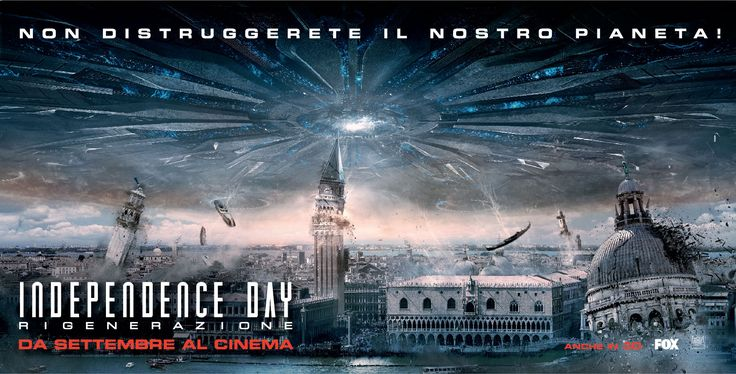 Movie poster for Italian advertising campaign for Independence Day - Resurgence, a film by Roland Emmerich. Poster by Alter Adv.