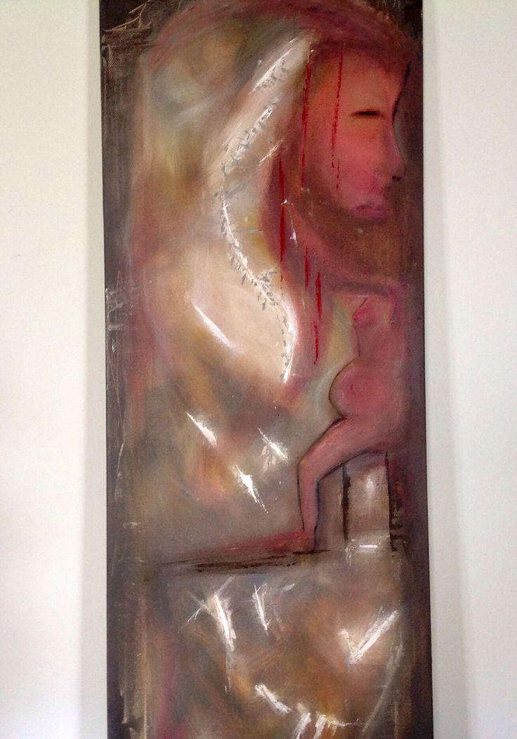 Mistero della vita_acrilico su tela_.  40x80 cm
