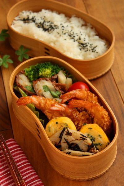 Japanese Fried Prawn Bento Lunch|エビフライ弁当