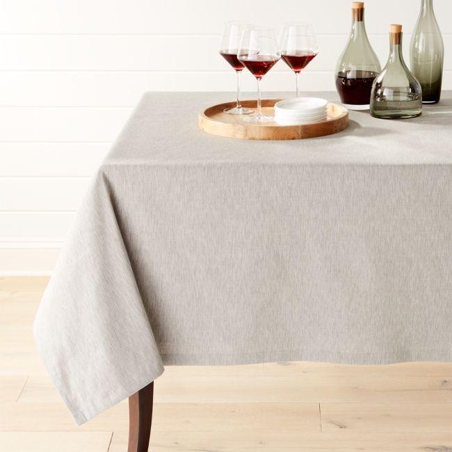 Linden Grey 60 X120 Tablecloth Grey Tablecloths Crate Barrel